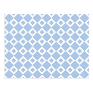Modelo azul claro y blanco del diamante tarjeta postal