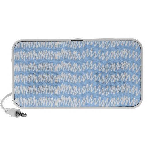 Modelo azul claro y blanco del squiggle laptop altavoz