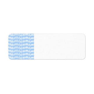 Modelo azul claro y blanco del squiggle etiqueta de remite