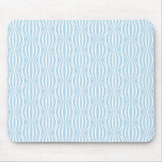 Modelo azul claro y blanco fresco del círculo mousepads
