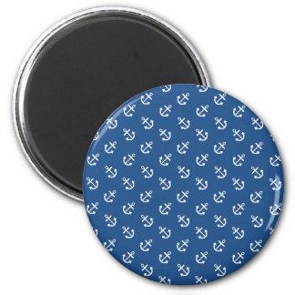 Modelo azul clásico del fondo de las anclas imán