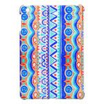 Modelo azul colorido azteca del naranja y del blan iPad mini funda