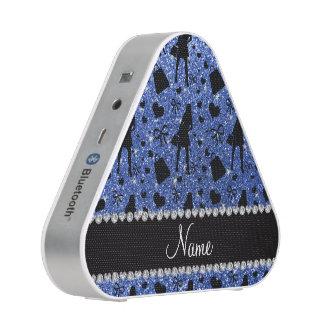 Modelo azul conocido de encargo de las compras del altavoz bluetooth