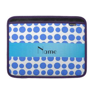 Modelo azul conocido de encargo del voleibol funda para macbook air