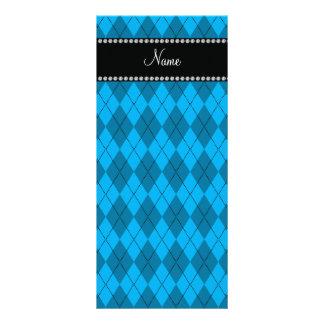 Modelo azul conocido personalizado del argyle tarjeta publicitaria