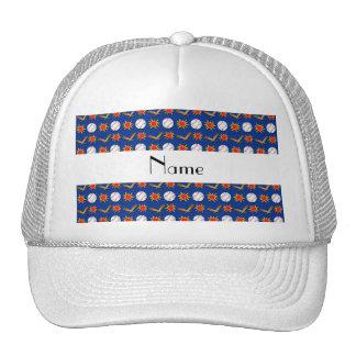 Modelo azul conocido personalizado del béisbol gorra