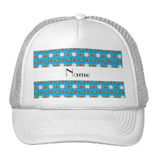 Modelo azul conocido personalizado del béisbol gorros bordados