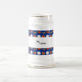 Modelo azul conocido personalizado del béisbol jarra de cerveza