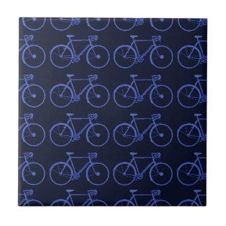 Modelo azul de bicis azulejo cuadrado pequeño