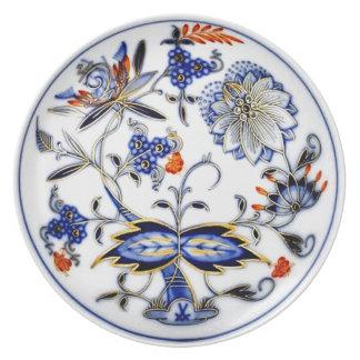 Modelo azul de China del vintage de la cebolla Platos De Comidas