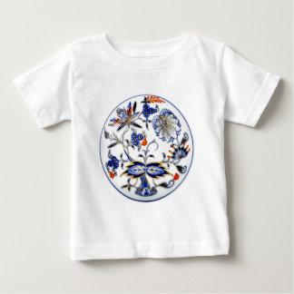 Modelo azul de China del vintage de la cebolla Remeras