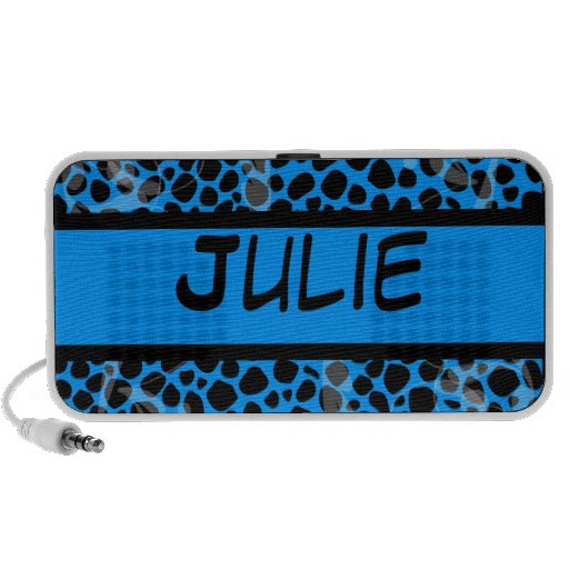 Modelo azul de encargo de la piel del leopardo laptop altavoz
