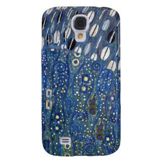 Modelo azul de Gustavo Klimt del oro de Nouveau de Funda Para Galaxy S4