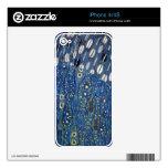 Modelo azul de Gustavo Klimt del oro de Nouveau de Calcomanía Para iPhone 4S