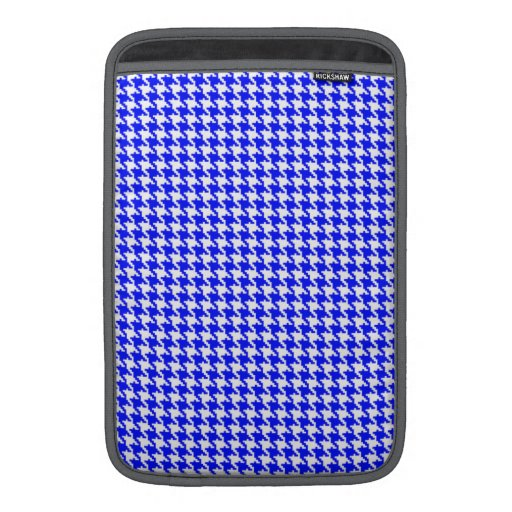Modelo azul de Houndstooth Funda Macbook Air