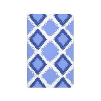 Modelo azul de Ikat del diamante Cuaderno