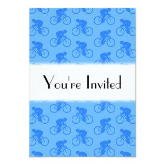 Modelo azul de la bici invitación 12,7 x 17,8 cm