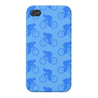 Modelo azul de la bici iPhone 4 coberturas