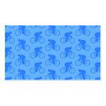 Modelo azul de la bici tarjeta de negocio