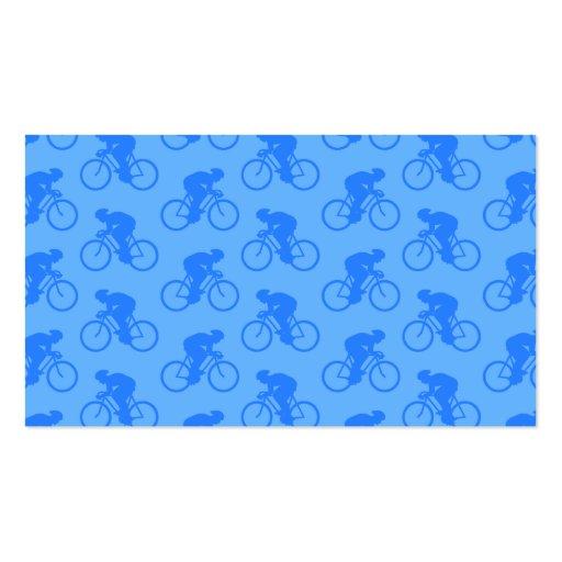 Modelo azul de la bici tarjetas de visita