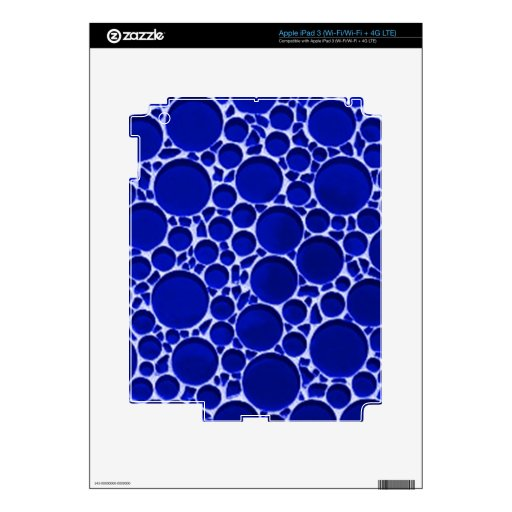 Modelo azul de la burbuja iPad 3 pegatina skin