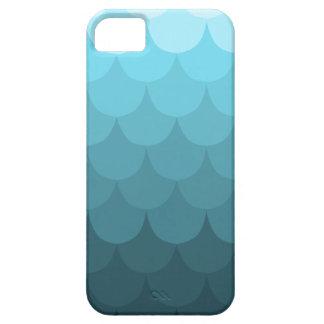 Modelo azul de la concha de peregrino de Ombre iPhone 5 Case-Mate Cárcasas