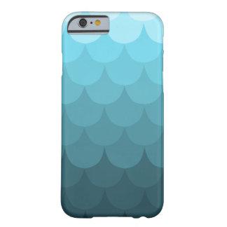 Modelo azul de la concha de peregrino de Ombre Funda De iPhone 6 Slim