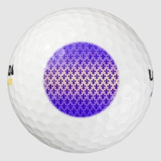 Modelo azul de la flor de lis de la pendiente del pack de pelotas de golf