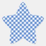 Modelo azul de la guinga pegatina en forma de estrella