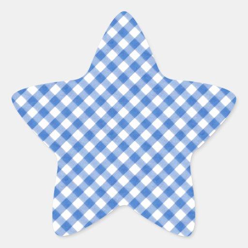 Modelo azul de la guinga colcomanias forma de estrellaes personalizadas
