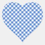 Modelo azul de la guinga pegatina en forma de corazón