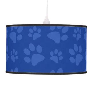 Modelo azul de la impresión de la pata del perro