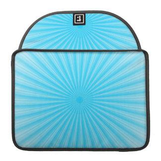Modelo azul de la parte radial de la sol funda para macbooks