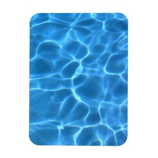 Modelo azul de la piscina imán flexible