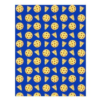 Modelo azul de la pizza membrete a diseño