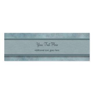 Modelo azul de la pluma del dril de algodón con el tarjetas de visita mini