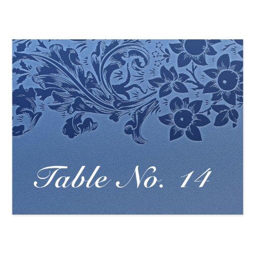 modelo azul de la postal de la tarjeta del número
