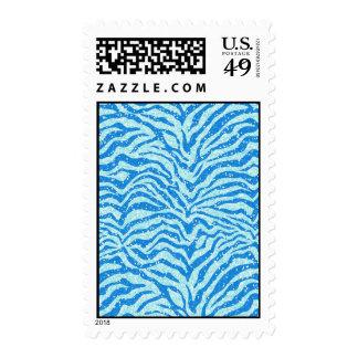 Modelo azul de la raya de la cebra de la impresión franqueo