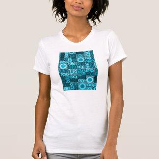 Modelo azul de la teja de mosaico del trullo de camisetas