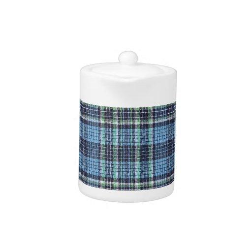 Modelo azul de la tela escocesa