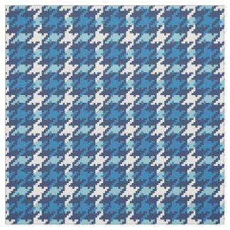 Modelo azul de la tela escocesa del houndstooth telas
