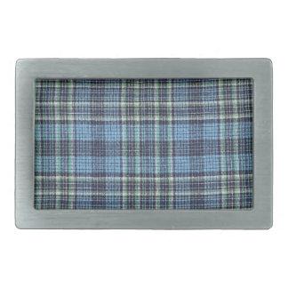 Modelo azul de la tela escocesa hebillas de cinturón