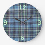 Modelo azul de la tela escocesa relojes