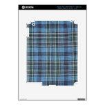 Modelo azul de la tela escocesa iPad 3 pegatina skin