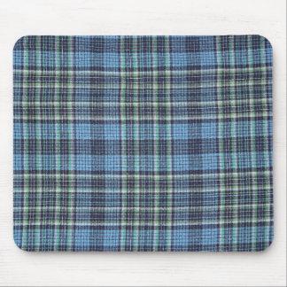Modelo azul de la tela escocesa alfombrilla de raton