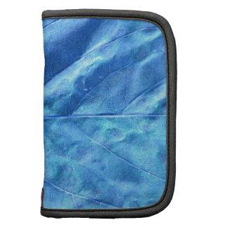 Modelo azul de la textura del extracto de la hoja planificadores