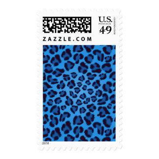 modelo azul de la textura del leopardo sello