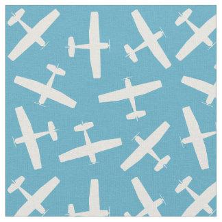 Modelo azul de los aviones del vintage telas
