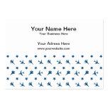 Modelo azul de los aviones plantilla de tarjeta de visita