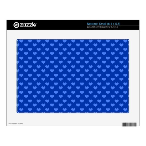 Modelo azul de los corazones netbook skins